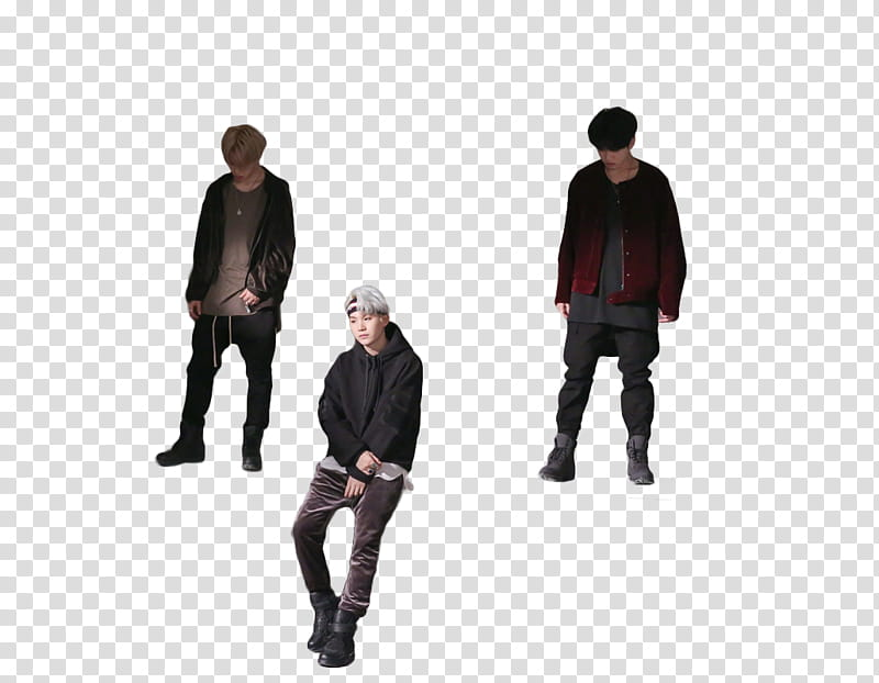 BTS Shooting for MIC Drop, three men wearing jackets and ... jpg free stock
