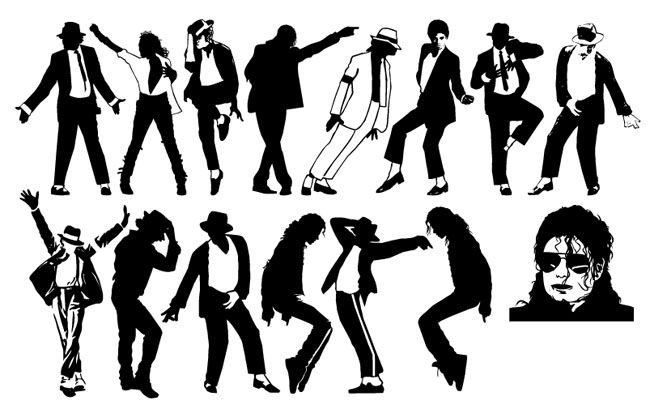 Michael Jackson Dancing Silhouette Pack - Free Vector Site ... png freeuse download