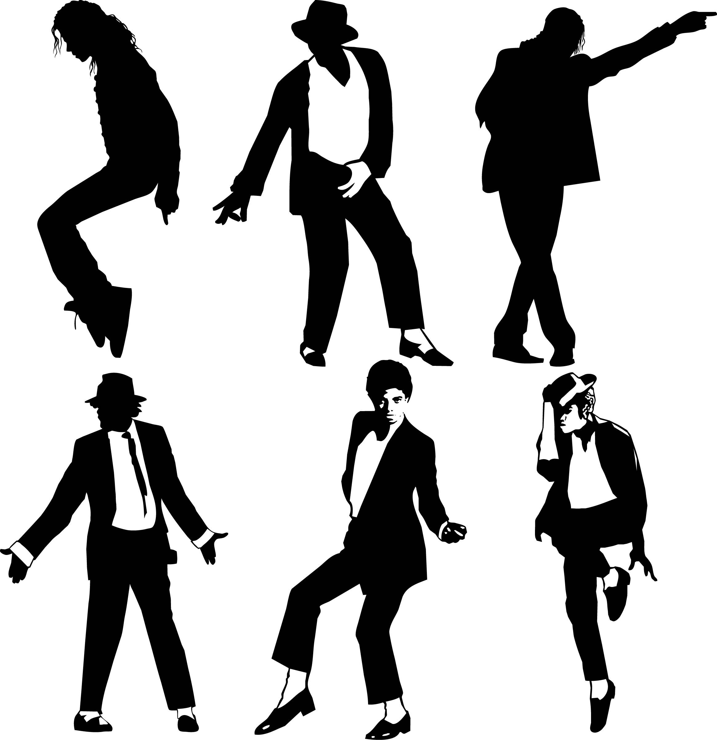Collection of Michael jackson clipart | Free download best ... banner black and white stock