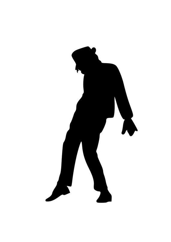 Michael Jackson SVG Cut File for Silhouette and Cricut ... vector free