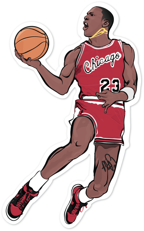 Micheal jordan basketball clipart graphic library stock A single 4