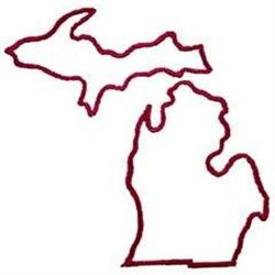 Michigan lower peninsula outline clipart image library library Michigan outline tattoo with a heart where Detroit is | Michigan ... image library library