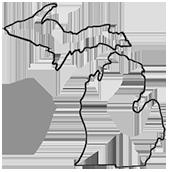 Michigan lower peninsula outline clipart jpg stock Michigan Lower Peninsula Clipart - Clipart Kid jpg stock