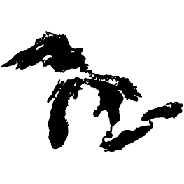 Great Lakes Silhouette FREE SVG | SVG Files | Lake huron ... clip art