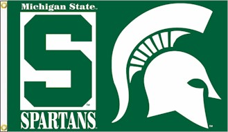 Michigan state university logo clip art clipart black and white library State of michigan flag clipart - ClipartFest clipart black and white library