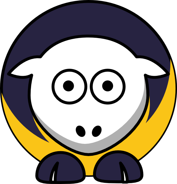 Sheep - Michigan Wolverines - Team Colors - College Football Clip ... clip art black and white library