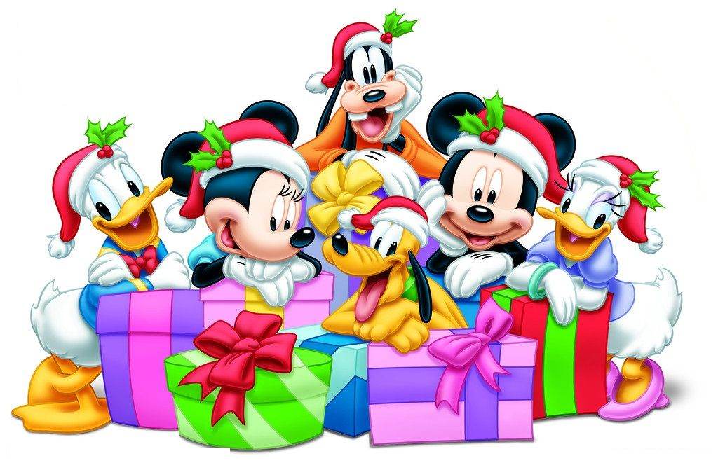 Mickey and friends christmas clipart clip Christmas - Disney - Mickey & Minnie Mouse & Friends ... clip