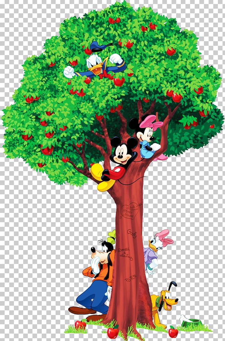 Mickey and minnie mouse apple trees clipart banner transparent download Mickey Mouse Universe Minnie Mouse Growth Chart Wall Decal ... banner transparent download
