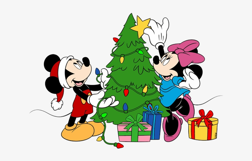 Mickey and minnie mouse apple trees clipart image free stock Mickey Christmas Tree Clipart - Mickey Mouse And Minnie ... image free stock
