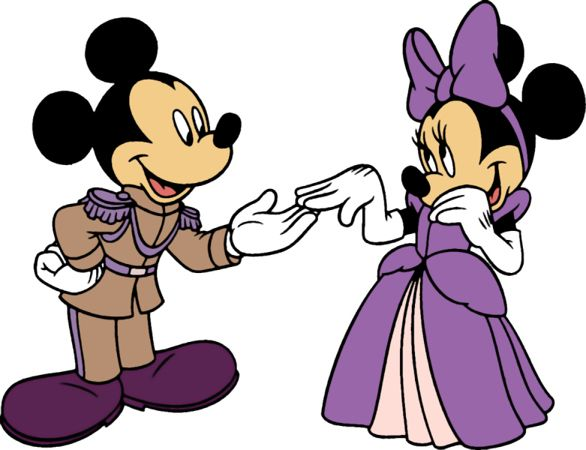 Mickey and minnie wedding clipart png stock purple mickey and minnie mouse | Minnie mouse silhouette ... png stock