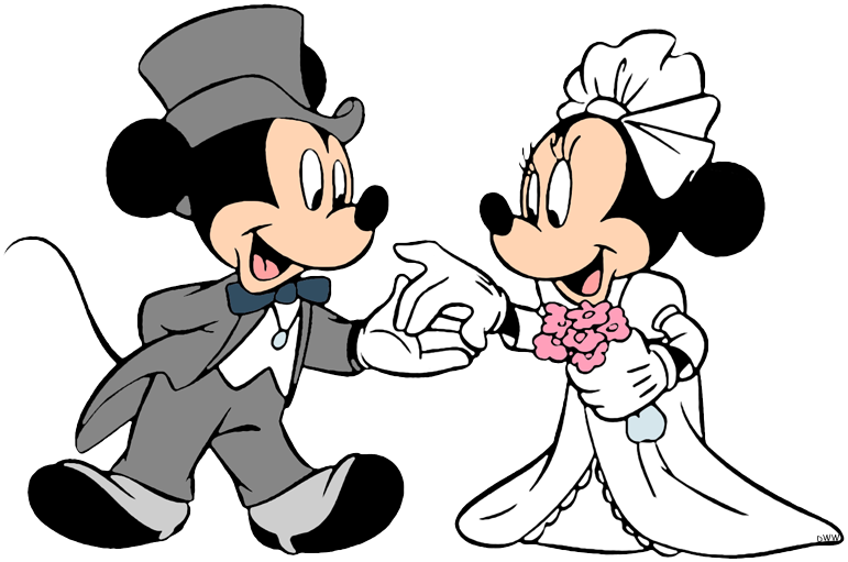 Mickey and minnie wedding clipart clip art transparent library Mickey & Minnie Mouse Clip Art | Disney Clip Art Galore clip art transparent library