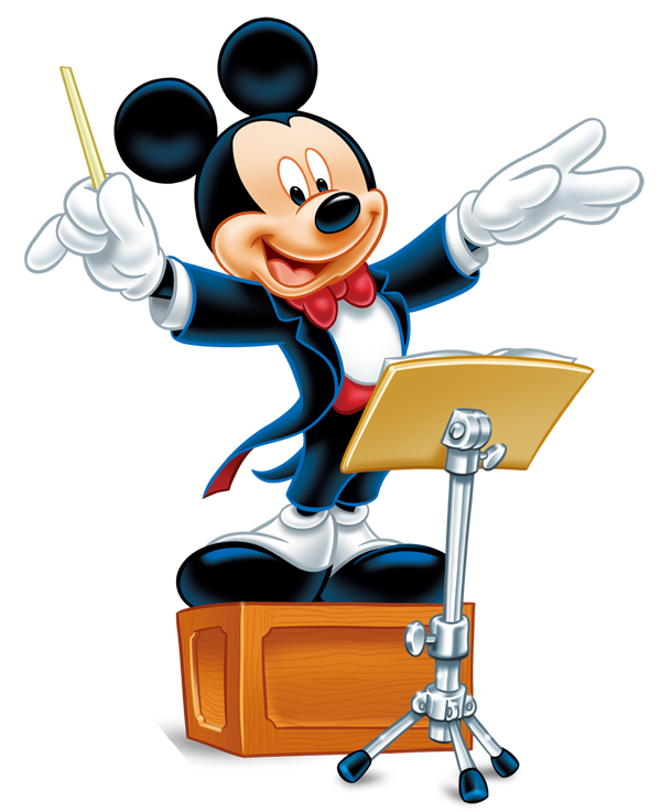 Rock star mickey mouse clipart png black and white stock Maestro Mickey | Disney | Pinterest | Mickey mouse, Conductors and Mice png black and white stock