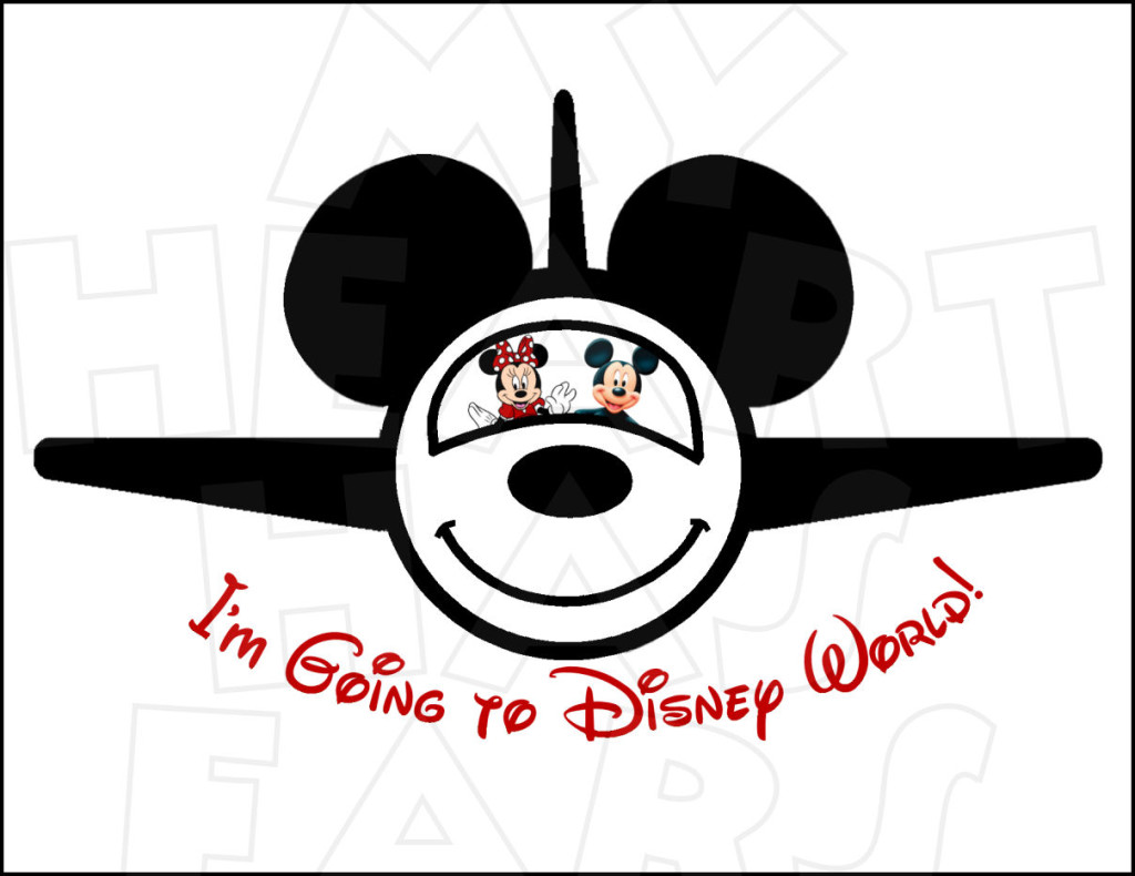 Mickey mouse airplane clipart clip art stock I\'m going to Disney World Airplane with Mickey and Minnie ... clip art stock