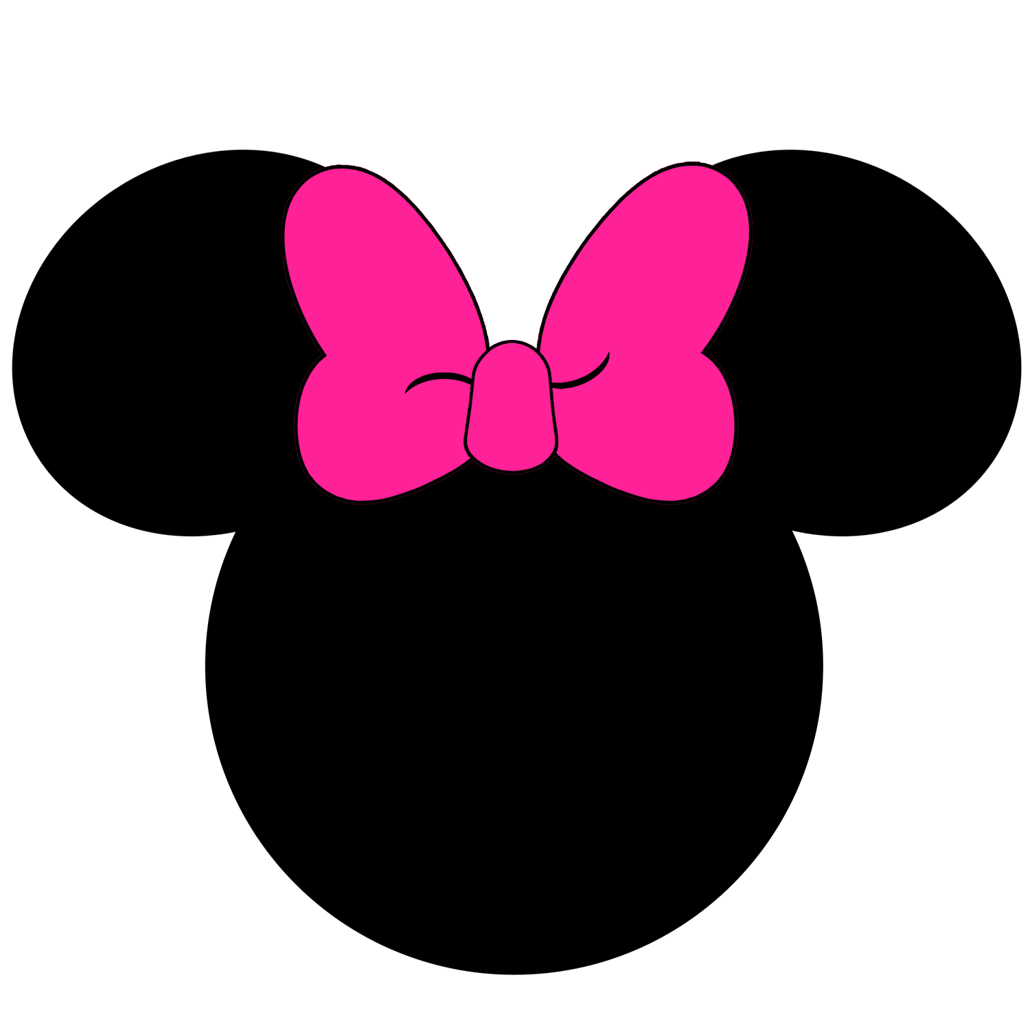 Minnie mouse crown ears clipart clip library Silhouette Minnie Mouse at GetDrawings.com | Free for personal use ... clip library