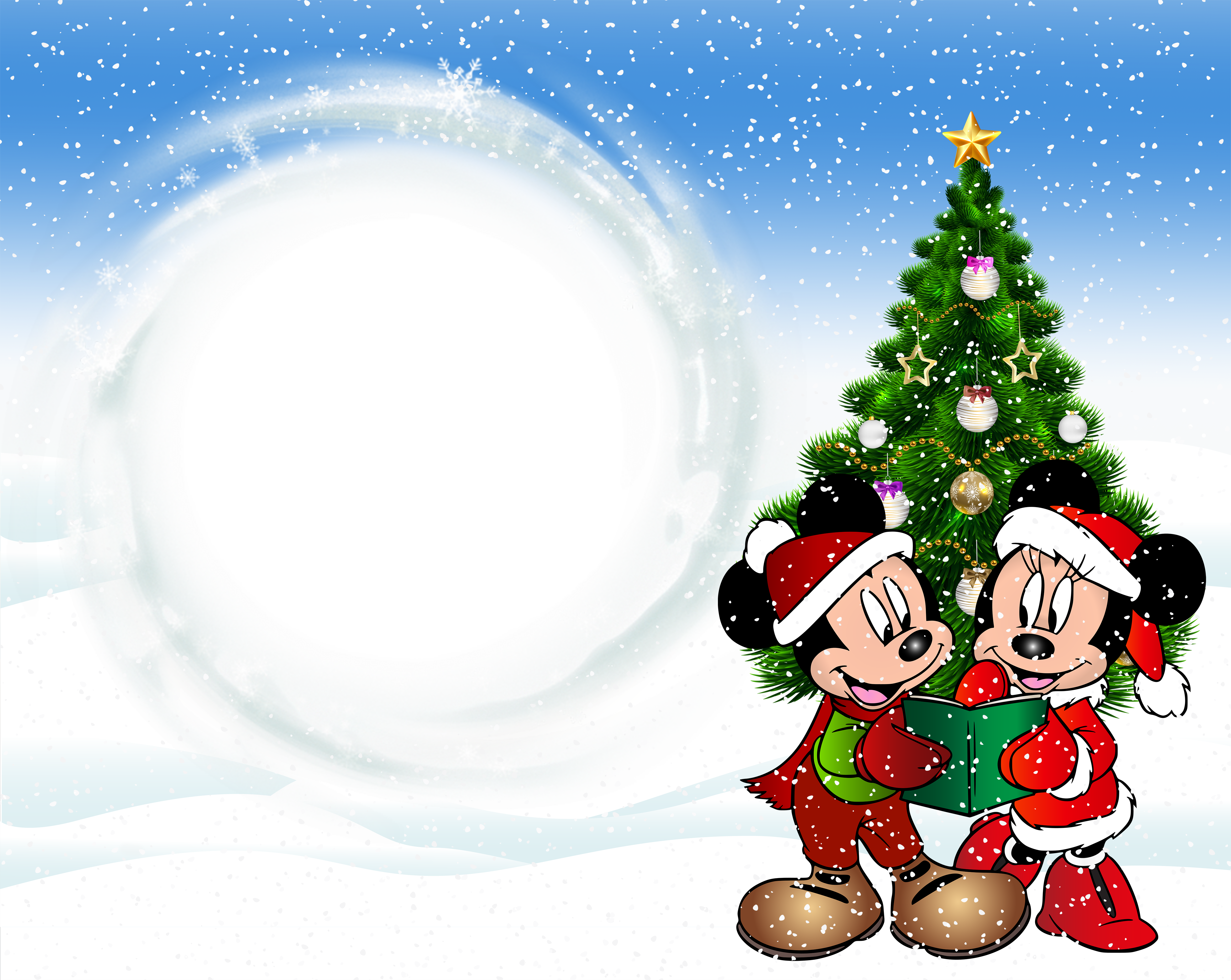 Mickey mouse christmas clipart clipart free stock Christmas Kids Transparent Frame with Mickey Mouse | Gallery ... clipart free stock