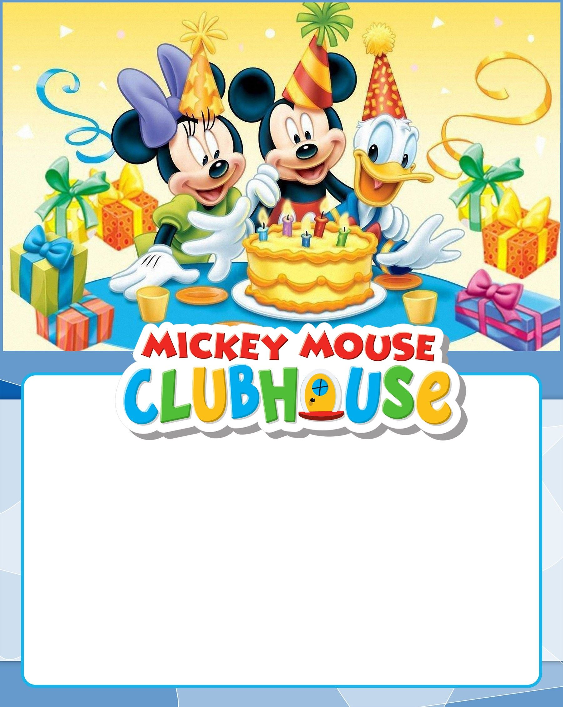 Mickey mouse clubhouse birthday clipart svg free stock Free Printable Mickey Mouse Clubhouse Invitation | Coolest ... svg free stock