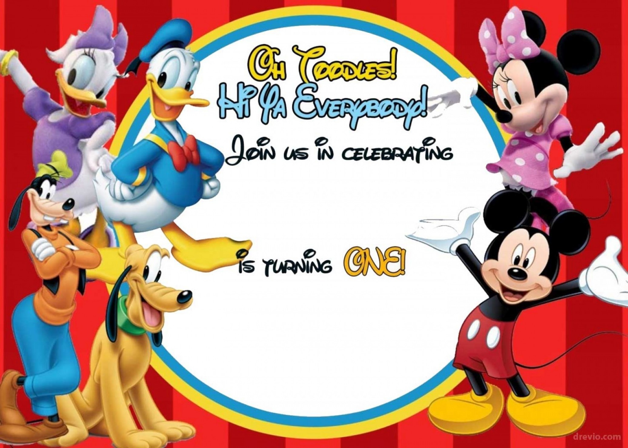 Mickey mouse clubhouse birthday clipart clip art transparent Free Mickey Mouse Clubhouse Birthday Invitations | SOIDERGI clip art transparent