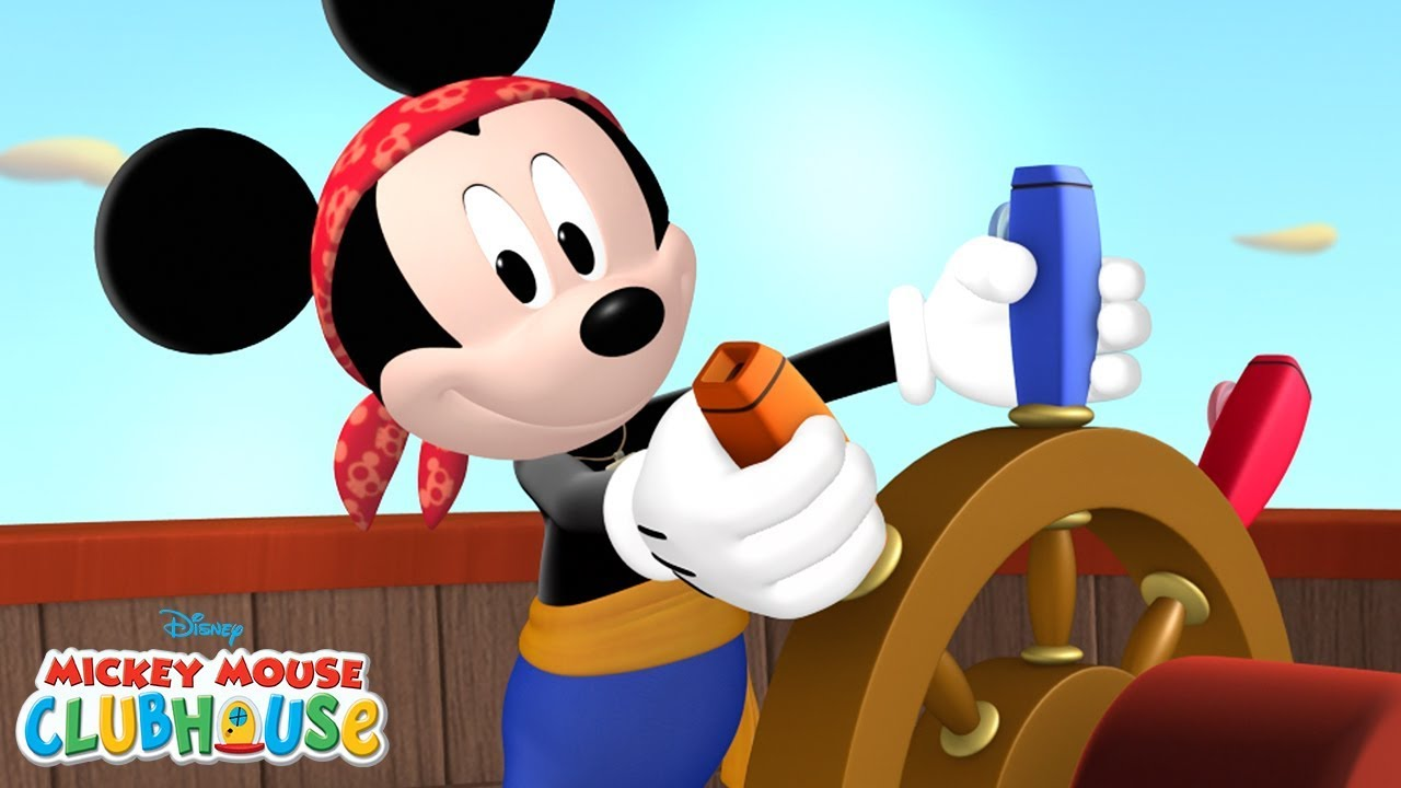 Mickey mouse clubhouse clipart goofy bunde hindi picture black and white Pirate Hot Dog Dance!   Mickey Mouse Clubhouse   Disney Junior picture black and white