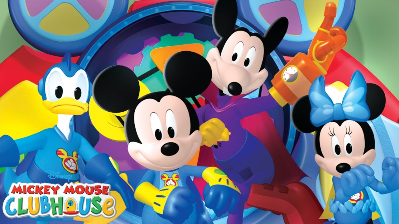 Mickey mouse clubhouse clipart goofy bunde hindi banner black and white library Super Hero Hot Dog Dance   Mickey Mouse Clubhouse   Disney Junior banner black and white library