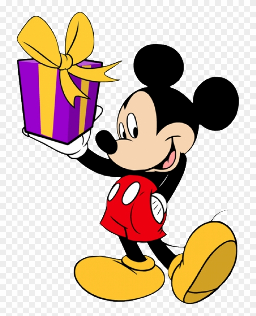Mickey mouse images hd clipart image transparent stock Mickey Mouse Hd Png - Mickey Mouse With Gift Clipart (#938004 ... image transparent stock