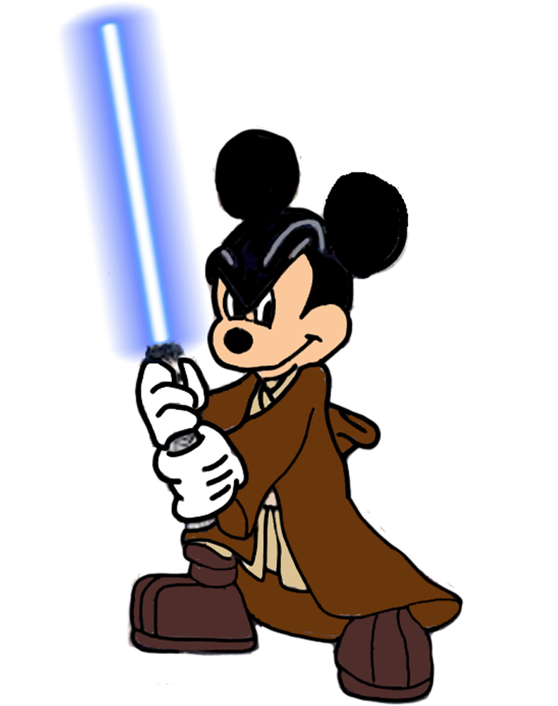 Mickey star wars clipart banner free Jedi Master Mickey Mouse by Darthranner83 on DeviantArt banner free