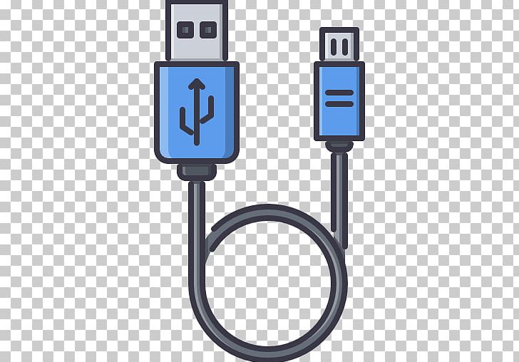 Micro usb cable clipart graphic transparent download Battery Charger Computer Icons Micro-USB Electrical Cable ... graphic transparent download