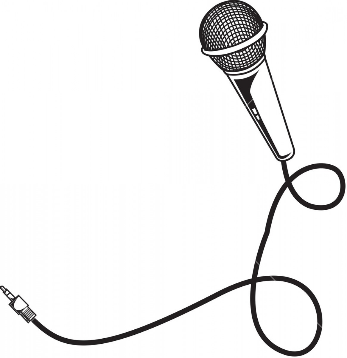 Microphone vector clipart clip art library download Microphone Vector Element With Wire Sdblanexwjgmppgh | SOIDERGI clip art library download