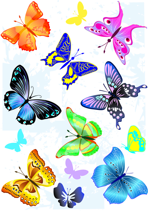 Microsoft clipart butterfly jpg freeuse Sorts of butterflies clip art vector material 04 free download jpg freeuse