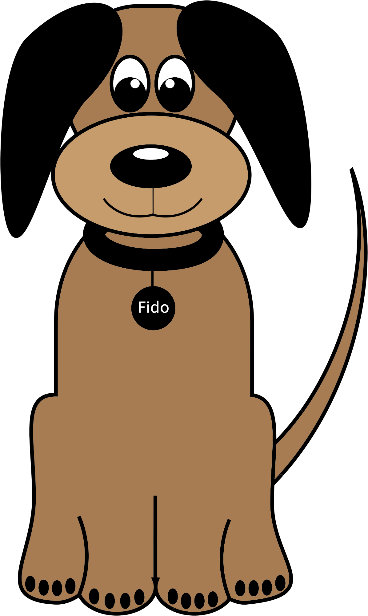 Cartoon fido big image. Dog training clipart