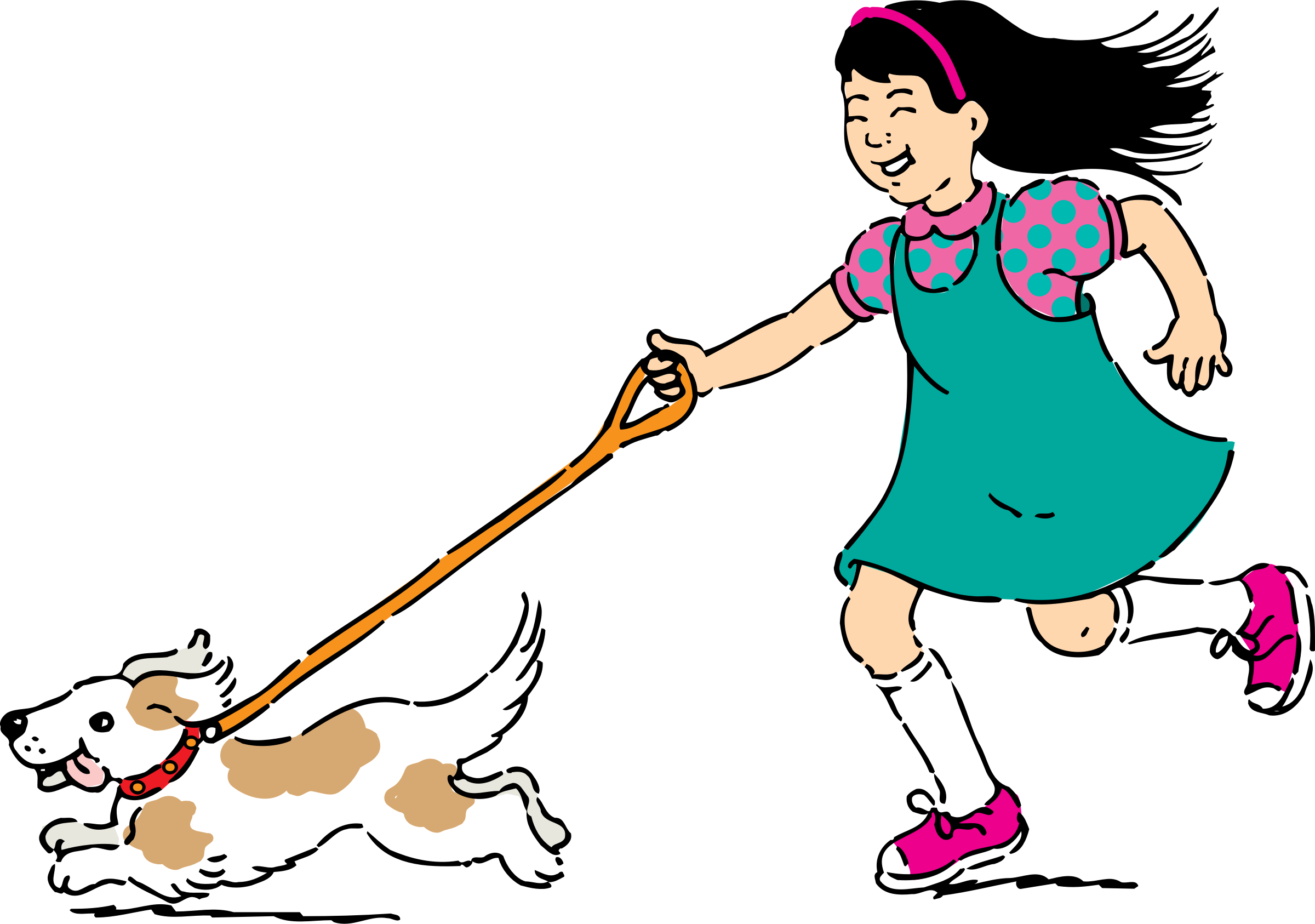 Dog walking clipart free banner freeuse stock Clipart - walking dog banner freeuse stock