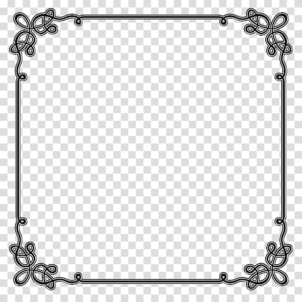 Microsoft clipart borders and frames clipart transparent stock Square black frame illustration, Borders and Frames Microsoft Word ... clipart transparent stock