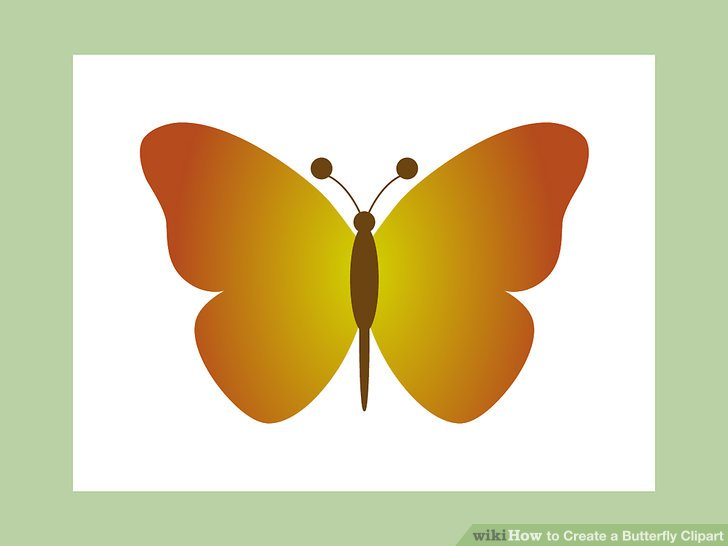 Microsoft clipart butterfly stock How to Create a Butterfly Clipart: 10 Steps (with Pictures) stock