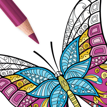 Microsoft clipart butterfly royalty free download Get Butterfly Coloring Pages for Adults: Coloring Book - Microsoft Store royalty free download