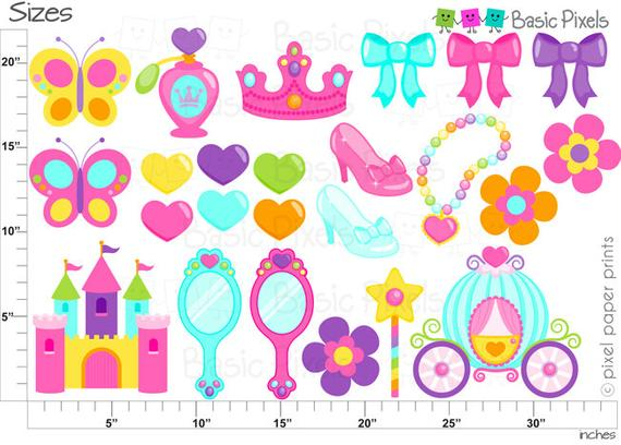 Microsoft clipart for commercial use png royalty free download Colorful Princess Clip Art - Princess clipart -commercial use ... png royalty free download