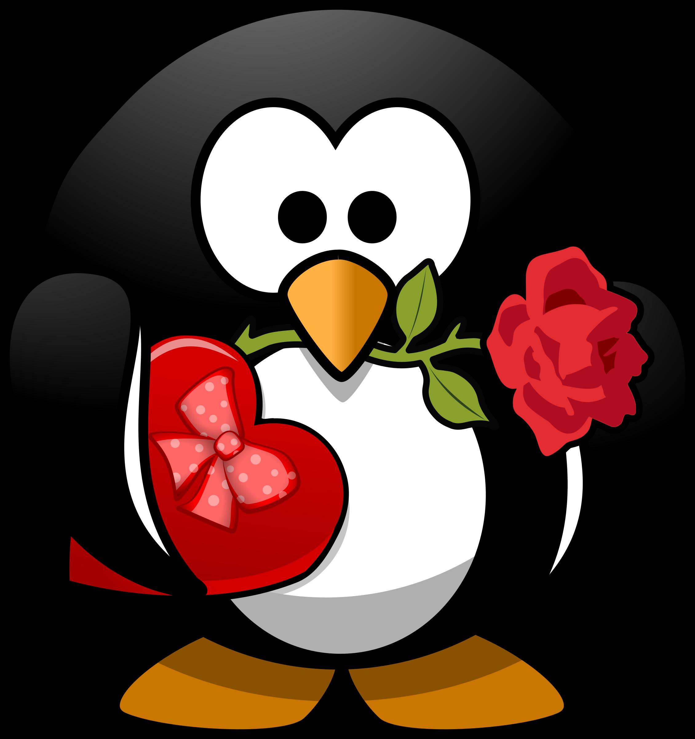 Microsoft free clipart valentines graphic download Clipart - Valentine Penguin graphic download