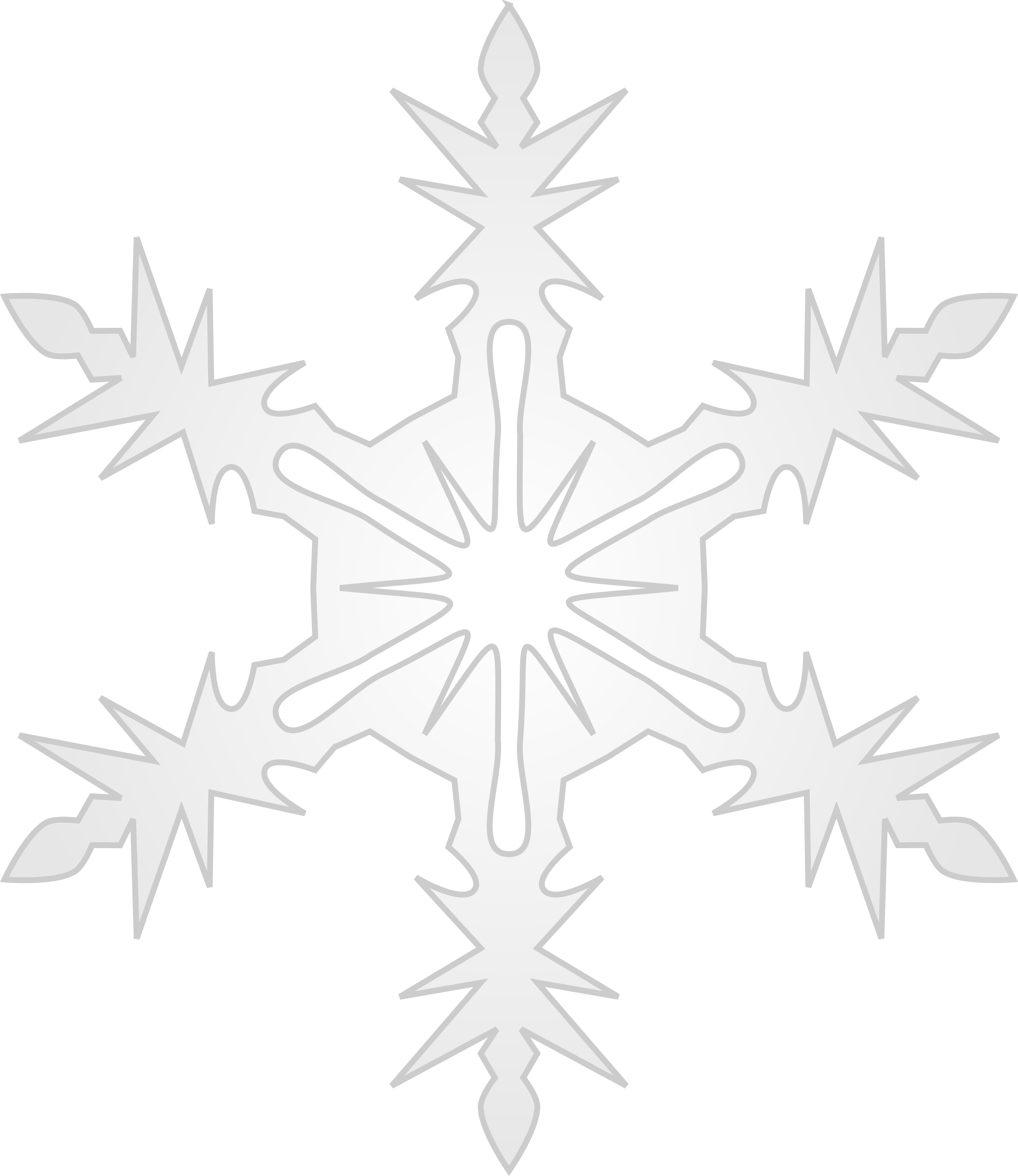 Microsoft office clipart snowflake black free clip transparent stock Clipart - Snowflake 9 clip transparent stock