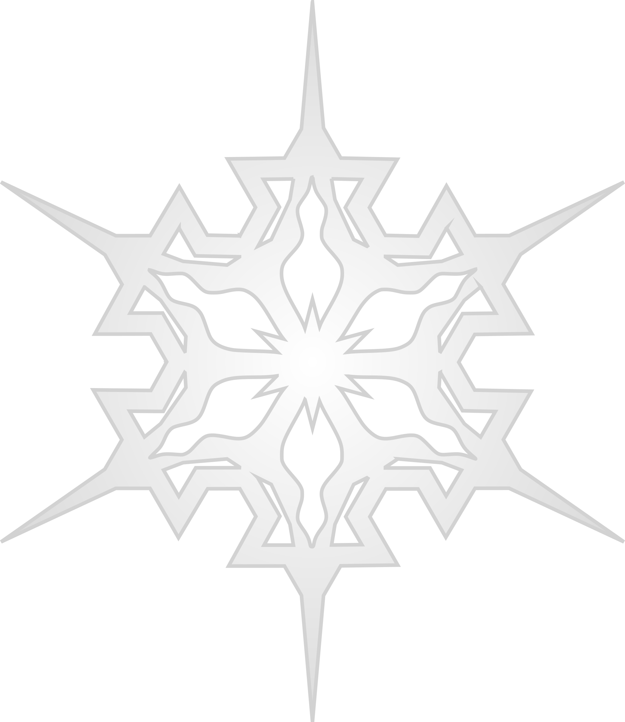 Microsoft office clipart snowflake black svg free stock Clipart - Snowflake 7 svg free stock