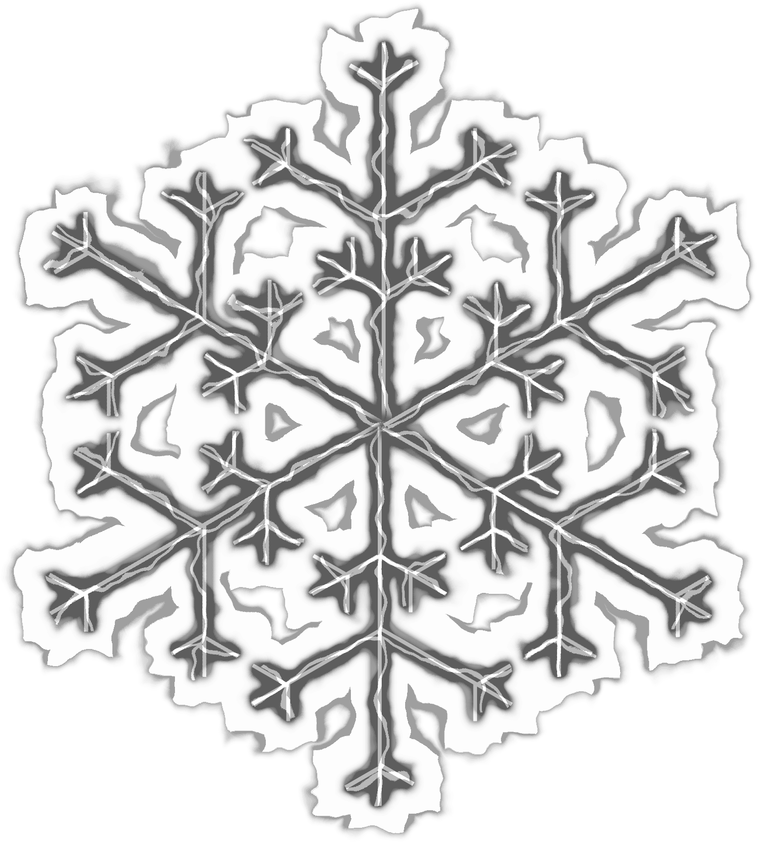 Microsoft office clipart snowflake black vector freeuse download Clipart - Snowflake vector freeuse download