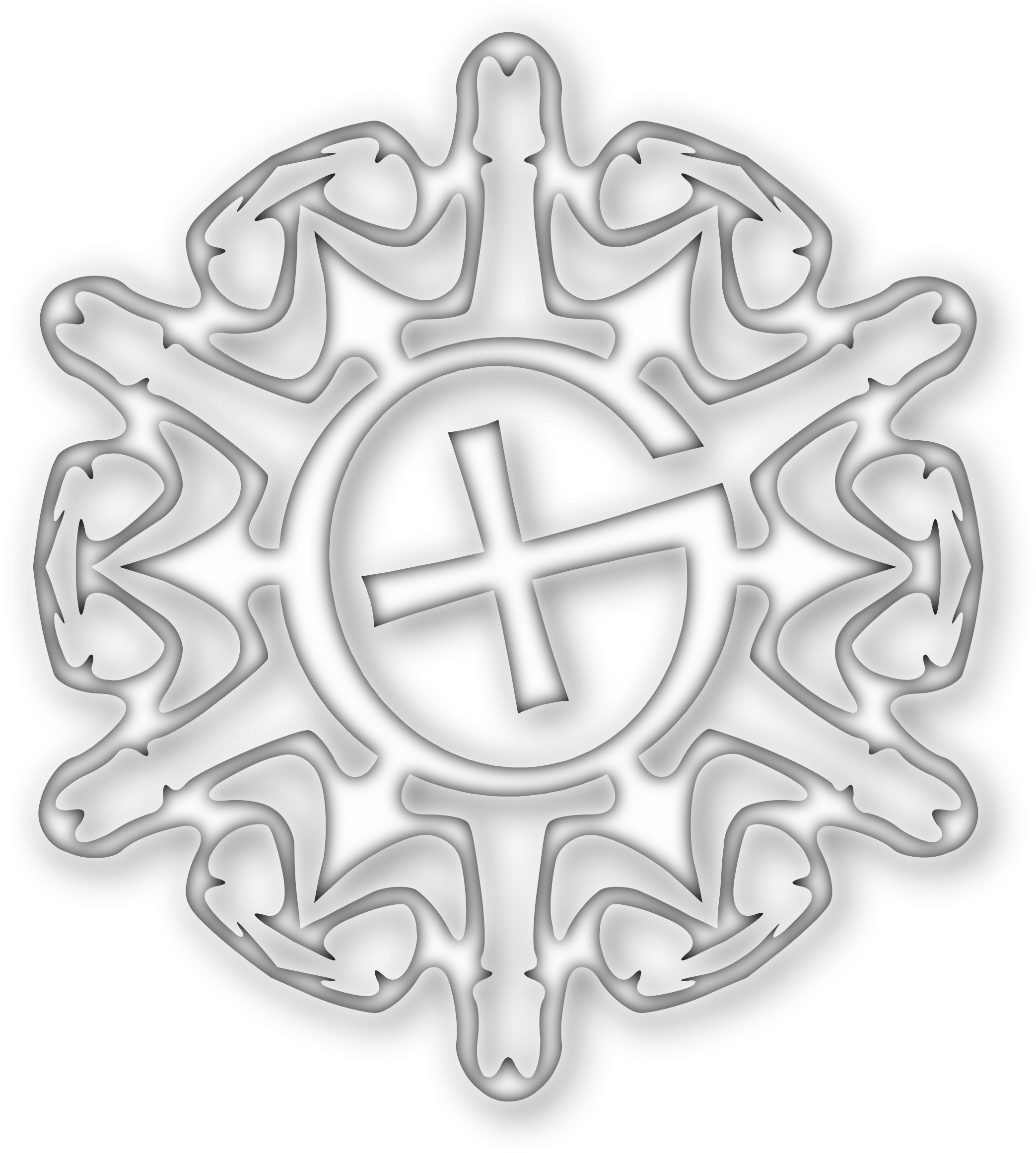 Snowflake cross clipart image library library Clipart - Geocaching snowflake image library library