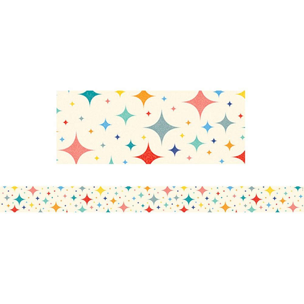 Mid century modern black gold border clipart jpg free Midcentury Mod Retro Stars Border jpg free