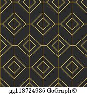 Mid century modern black gold border clipart banner black and white library Clip Art Mid Century Modern - Royalty Free - GoGraph banner black and white library