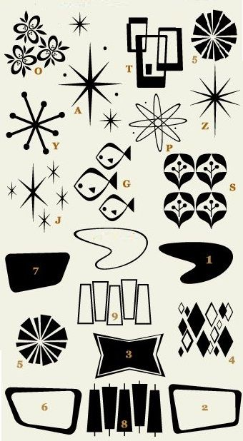 Mid century modern black gold border clipart clip freeuse Atomic Fonts | Home in 2019 | Mid century modern art, Mid ... clip freeuse