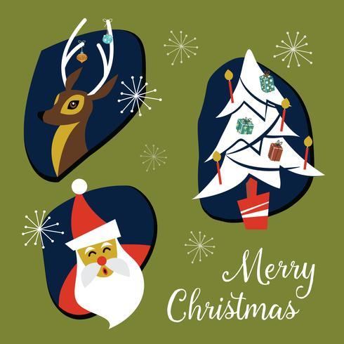 Mid century modern christmas clipart clip Mid Century Modern Christmas Badges and Elements Collection ... clip
