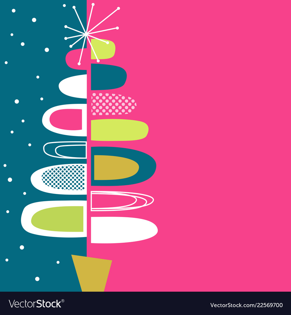 Mid century modern christmas clipart png freeuse Midcentury modern abstract christmas tree design vector image png freeuse