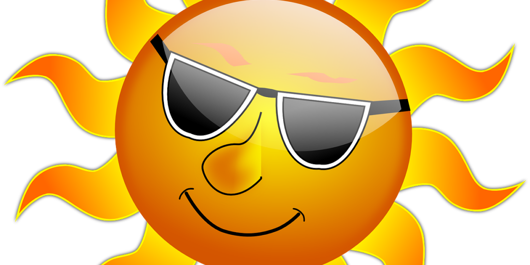 Midday sun clipart svg black and white library Stay Cool In Hot Weather   Maple Lakes Recreational Park svg black and white library