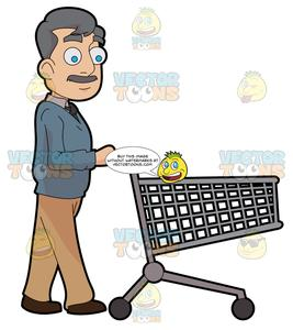 Pushing a full and empty shopping cart clipart clip art library A Middle Age Man Pushing An Empty Grocery Cart clip art library