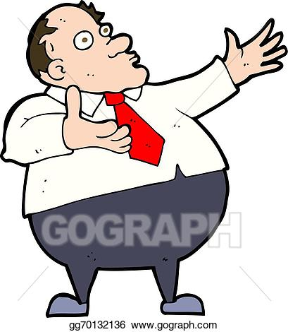 Middle aged man clipart stock EPS Illustration - Cartoon exasperated middle aged man ... stock