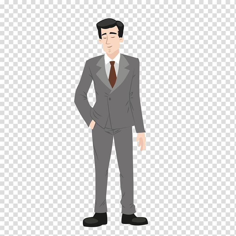 Middle aged man clipart clipart library Suit Cartoon Formal wear Clothing, Silver gray suit middle ... clipart library