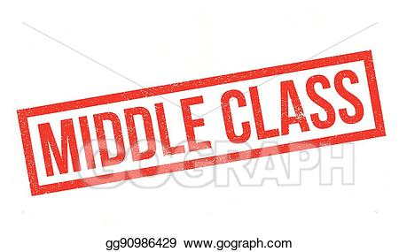 Middle class clipart svg royalty free library Vector Clipart - Middle class rubber stamp. Vector ... svg royalty free library