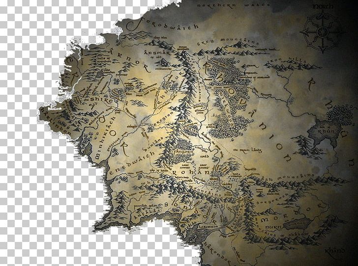 Middle earth clipart graphic library The Lord Of The Rings The Hobbit A Map Of Middle-earth PNG ... graphic library